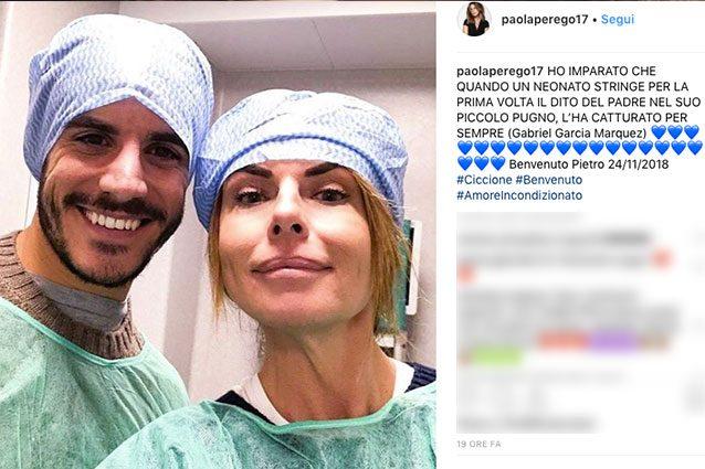 Paola Perego è diventata nonna