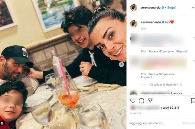Serena Enardu e Pago dopo il GF Vip, cuori a cena con i figl