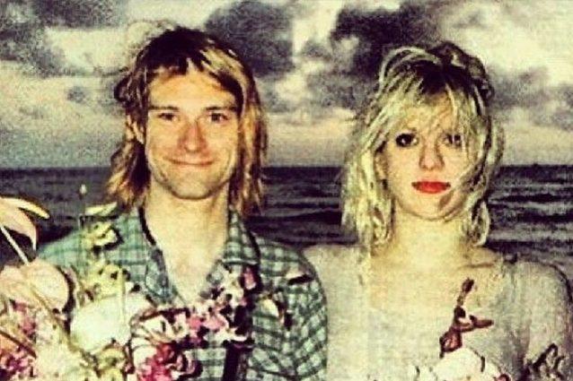 Courtney Love ricorda l'anniversario di nozze con Kurt Cobai