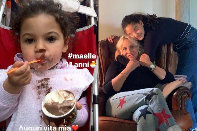 """Maelle compie 11 anni, Antonella Clerici: """"Auguri vita mia,"""