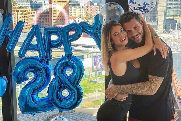 Daniele Scardina compie 28 anni abbracciato a Diletta Leotta