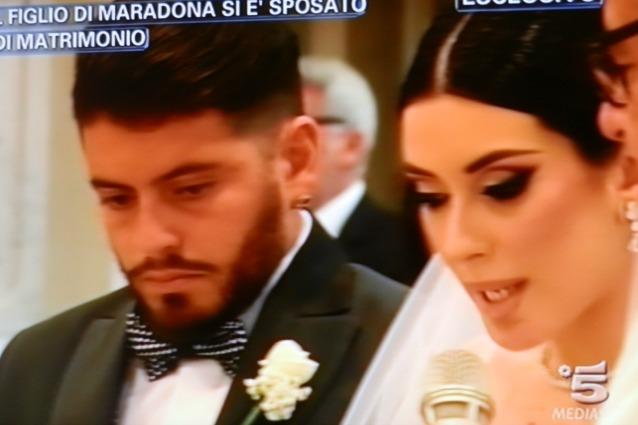 Diego Armando Maradona Jr. ha sposato Nunzia Pennino ...