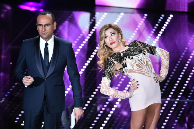 Virginia Raffaele porta Belén a Sanremo 2016 e indossa l'abito di Emma Marrone