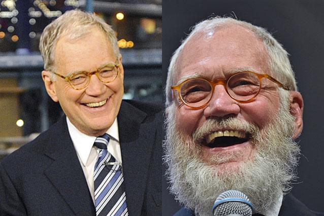 David Letterman in pensione cambia look, la barba è sempre più lunga