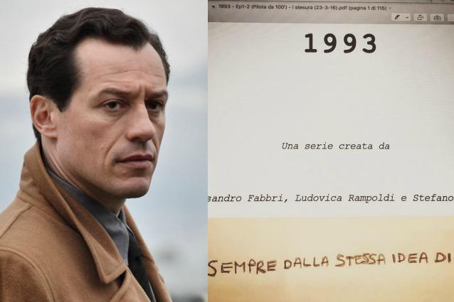 """Stefano Accorsi mostra il copione di """"1993"""": il sequel di """"1992 - La serie"""" è ufficiale"""