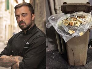 """Chef Rubio contro chi spreca cibo: """"Questa foto è l'emblema della società"""""""