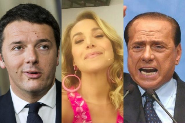 Silvio Berlusconi e Matteo Renzi ospiti di Barbara D'Urso a Domenica Live