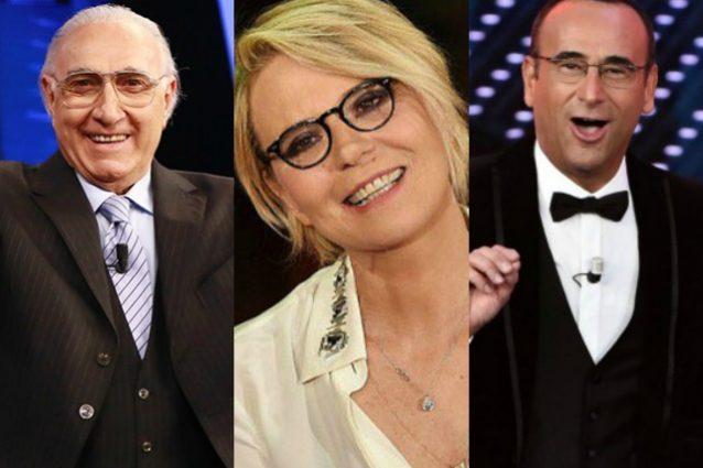"""Pippo Baudo benedice Maria De Filippi a Sanremo 2017: """"Scelta intelligente di Conti"""""""