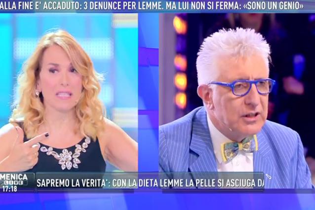 """Barbara D'Urso minaccia Lemme: """"Non ti invito più, non dire che guarisci dalle malattie"""""""
