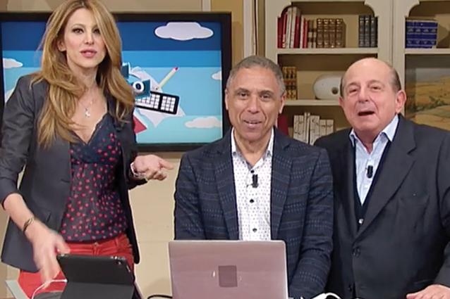 """Giancarlo Magalli manda a quel paese Adriana Volpe in diretta: """"Ma che rompipalle che sei..."""""""