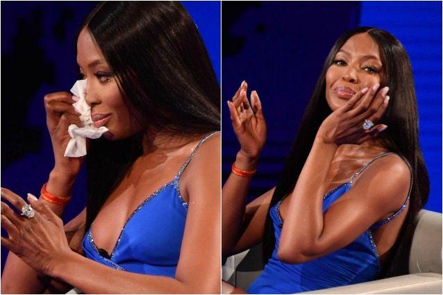"""Naomi Campbell in lacrime in tv: """"Gianni Versace e Franca Sozzani mi mancano molto"""""""