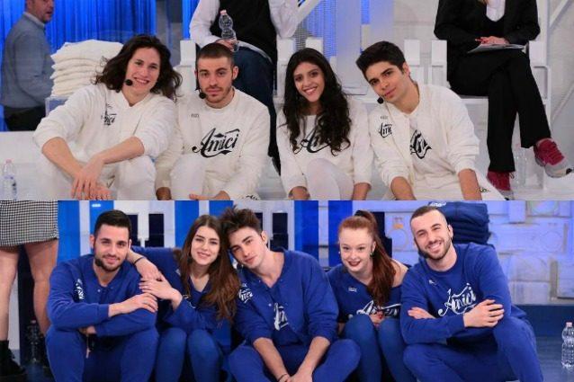 La squadra bianca e la squadra blu del serale di Amici 2017