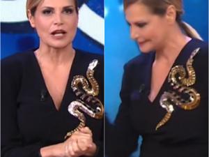 Il serpente di Simona Ventura non piace al pubblico