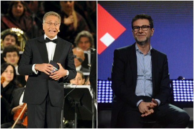 Paolo Bonolis e Fabio Fazio.