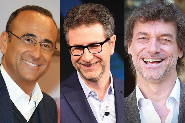 Carlo Conti, Fabio Fazio e Alberto Angela: ecco gli uomini dell'autunno Rai 2017
