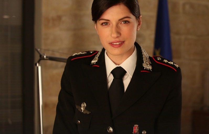 Maria Chiara Giannetta nei panni del nuovo capitano dei Carabinieri