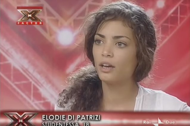 Elodie ai provini di X Factor nel 2008.