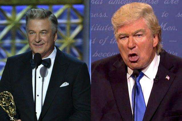 """Emmy 2017, Alec Baldwin vince per l'imitazione di Donald Trump: """"Ecco il suo premio, presidente"""""""