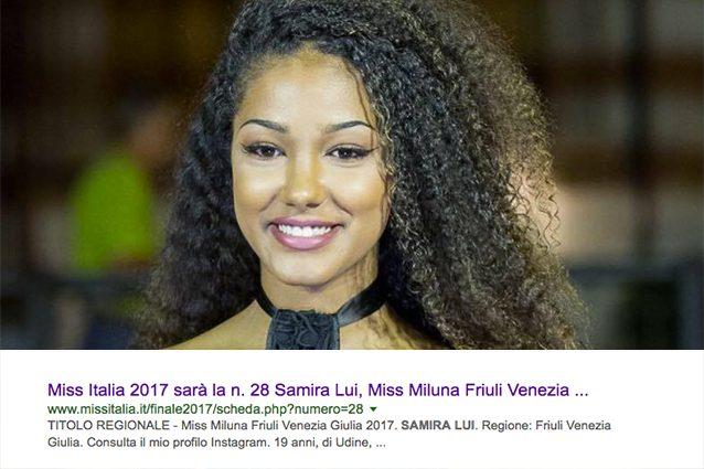 """""""Miss Italia 2017 sarà Samira Lui"""", il sito ufficiale svela per sbaglio il nome della vincitrice?"""