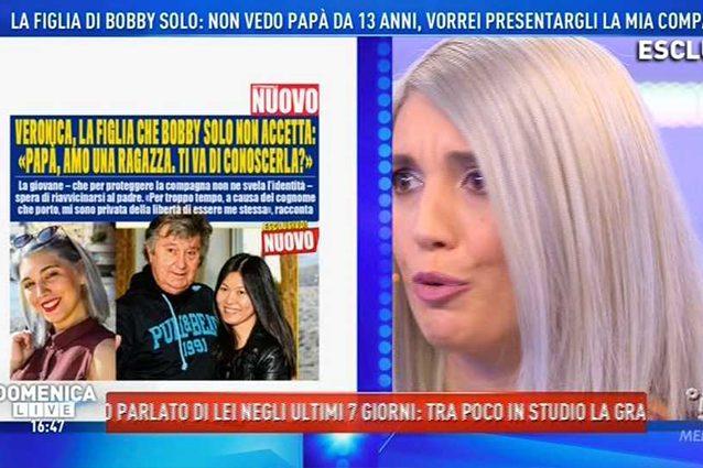 Bobby Solo, la figlia Veronica Satti a Domenica Live: