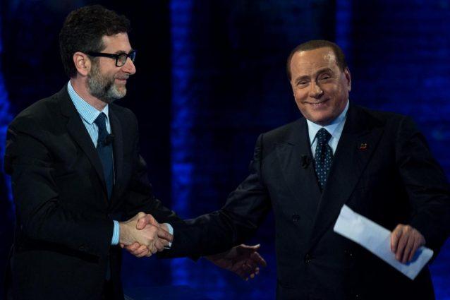 """Silvio Berlusconi ospite di Fabio Fazio a """"Che Tempo Che Fa"""""""
