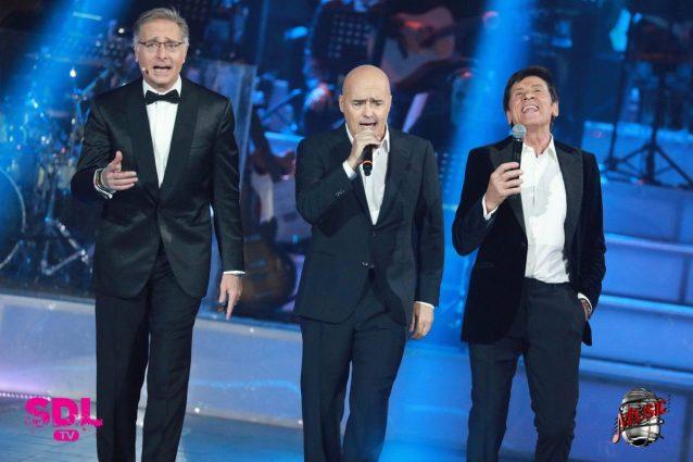 """Gianni Morandi show, canta """"Occhi di ragazza"""" col commissario Montalbano"""