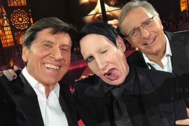 """Marilyn Manson e Gianni Morandi nella prima puntata di """"Music"""""""