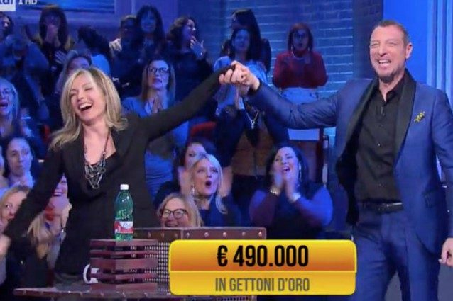 Soliti Ignoti, vincita record: 490mila euro per Loredana