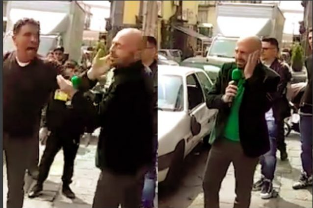 Luca Abete schiaffeggiato da un parcheggiatore abusivo