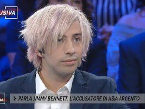 """Jimmy Bennett a 'Non è l'Arena': """"Asia Argento mi ha violentato, è stato un rapporto completo"""""""