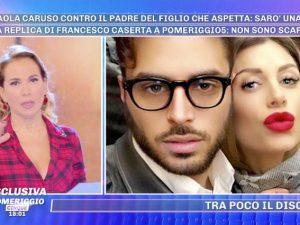 """Pomeriggio Cinque, Francesco Caserta si difende dalle accuse di Paola Caruso: """"Siamo incompatibili"""""""