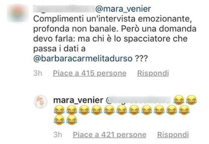 D'Urso contro Venier:
