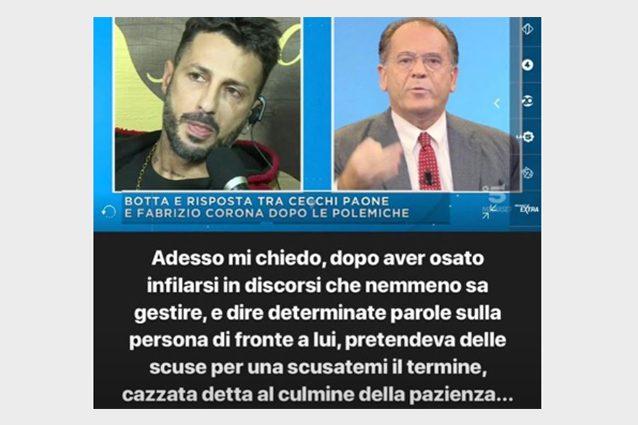 Fabrizio Corona a Mattino 5: