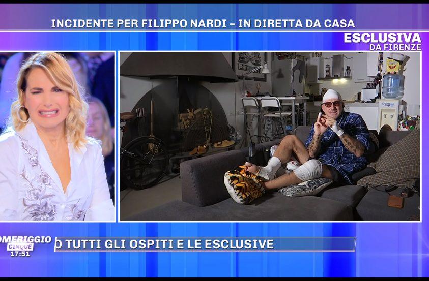 """Incidente per Filippo Nardi che mostra le ferite a Barbara d'Urso: """"Ho ..."""
