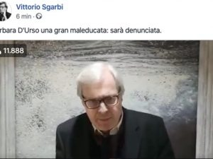 "Vittorio Sgarbi: ""Barbara D'Urso è una maleducata, sarà denu"