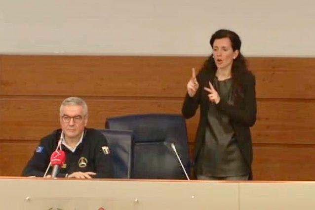 Susanna Di Pietra, interprete linguaggio dei segni Protezion