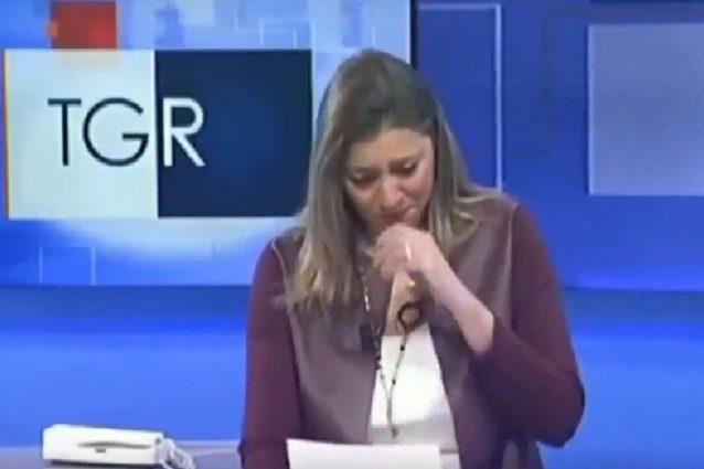 Giornalista del Tg3 Basilicata scoppia a piangere annunciand