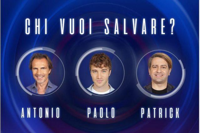 GFVip |  eliminate Fernanda Lessa e Sara Soldati |  nominati Patrick |  Paolo Ciavarro e