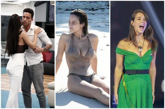 Paola Di Benedetto dall'Isola con Monte al GF con l'ex, la l