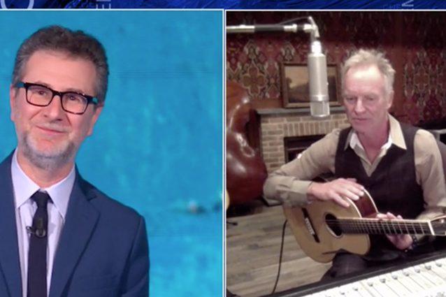 """Sting canta """"Message in a bottle"""" a Che Tempo Che Fa: """"Siamo"""