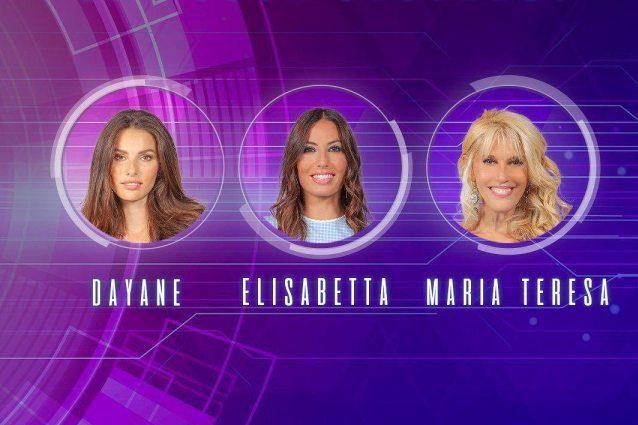 Grande Fratello Vip: Elisabetta Gregoraci, Maria Teresa Ruta e Dayane Mello in nomination