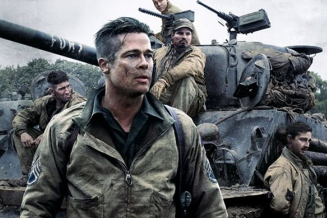 """Fury"", Brad Pitt nei panni del sergente americano Wardaddy"