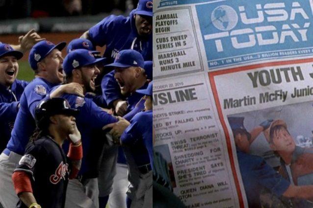 """I Cubs vincono le World Series, """"Ritorno al Futuro"""" lo aveva previsto 30 anni fa"""
