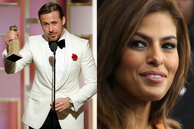 """Ryan Gosling dedica il Golden Globe a Eva Mendes: """"Sono qui grazie a te"""""""