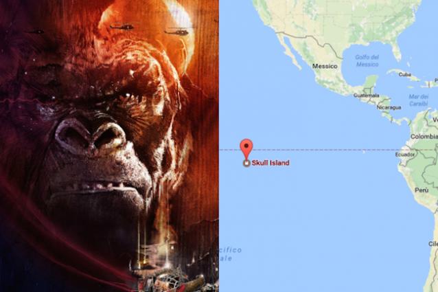 """""""Kong: Skull Island"""", l'isola del film è ricercabile su Google Maps"""