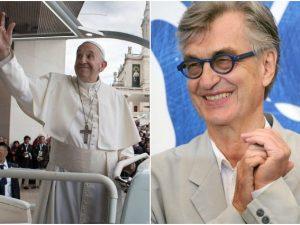 Papa Francesco e il regista Wim Wenders