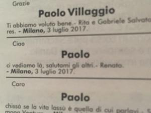Paolo villaggio morto addio a fantozzi fanpage for Necrologio corriere della sera
