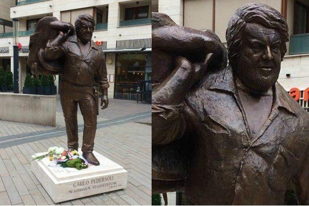 A Budapest una statua di Bud Spencer, a inaugurarla le figlie dell'attore