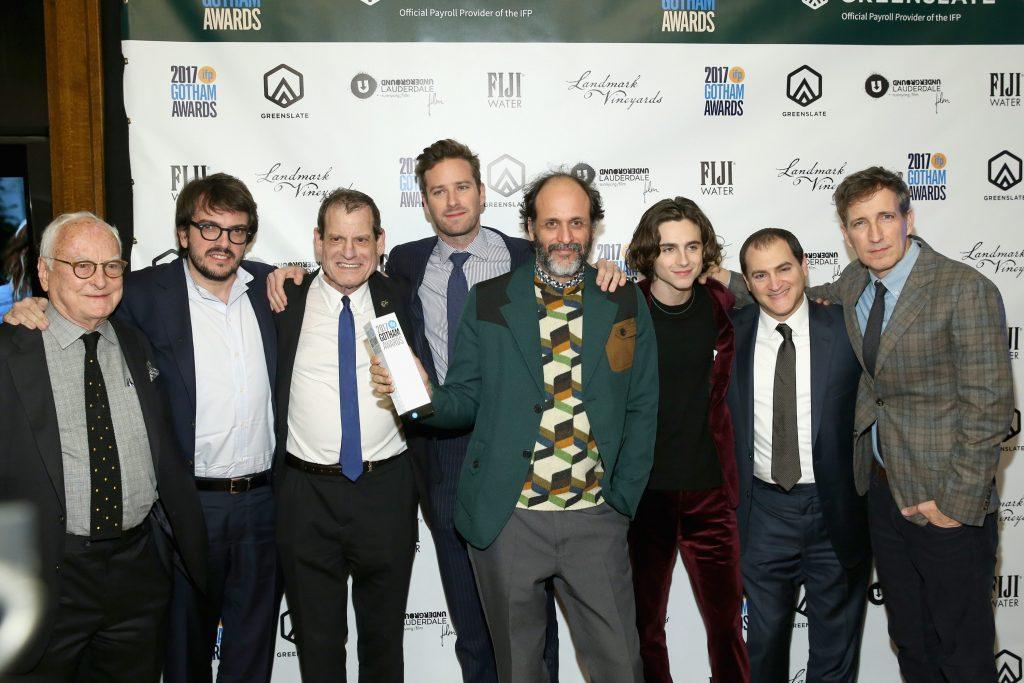 Luca Guadagnino con il cast del film ai Gotham Awards