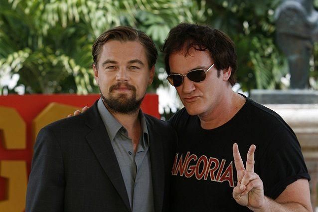Leonardo DiCaprio con Quentin Tarantino nel film dedicato a Charles Manson